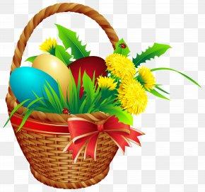 Easter Basket Clip Art Image - Easter Bunny Easter Basket Clip Art PNG