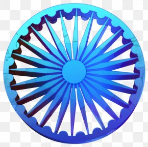 Wheel Electric Blue - India Independence Day Background Blue PNG