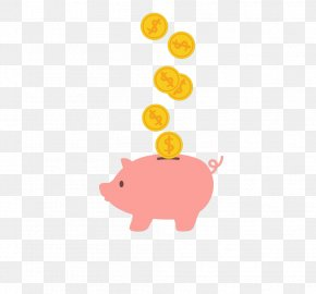 Piggy Bank - Piggy Bank Saving Coin Domestic Pig PNG
