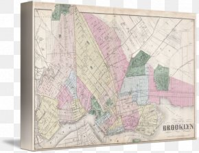 Painting - Brooklyn Paper Painting Giclée Map PNG