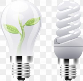 Vector Bulb Lamp - Incandescent Light Bulb Energy Conservation PNG