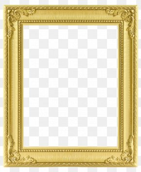 Rectangular Gold Frame - Picture Frame Photography Texture PNG