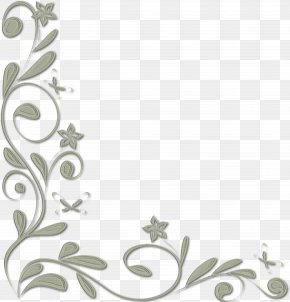Callalily - Black And White Floral Design Clip Art PNG