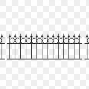 Steel Gate - Fence Wrought Iron Steel Guard Rail Metal PNG