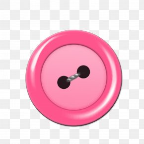 Pink Round Button - Pink Button Download PNG