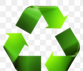 Green Recycling Symbol - Recycling Symbol Waste Reuse Recycling Bin PNG