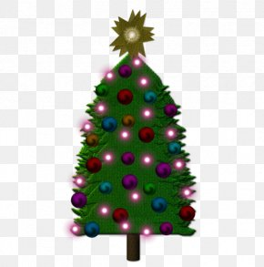 Cartoon Christmas Tree Decoration Graphics - Christmas Tree Drawing Christmas Ornament PNG
