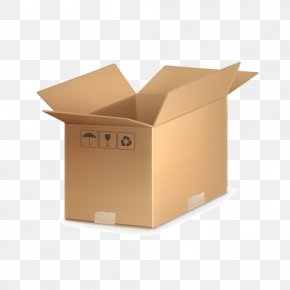 Cardboard Box - Vector Graphics Clip Art Illustration Image PNG