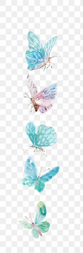 Watercolor Butterfly - Butterfly Icon PNG