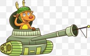 Vector Cartoon Deer Open Tanks - Cartoon Royalty-free Illustration PNG