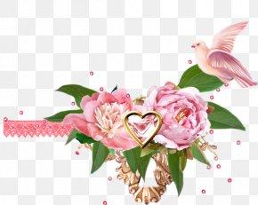 Pink Peony - Moutan Peony Rose Floral Design PNG