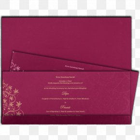 Wedding Moslem - Paper Rectangle Pink M PNG
