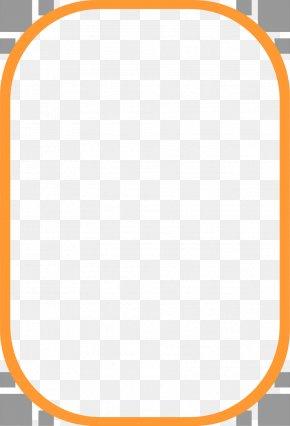 Orange Border Frame Clipart - Picture Frame Clip Art PNG