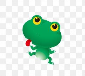 Tongue Frog - Frog Cartoon Clip Art PNG