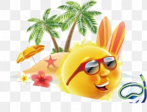 Summer Poster Design Element Vector Material PNG