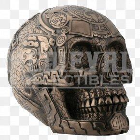 Skull Viking - Aztec Calendar Skull Calavera Statue PNG
