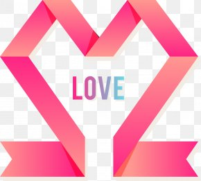 Vector Ribbon Decoration Love - Love Gratis Romance PNG