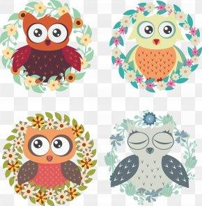Creative Owl Vector - Owl Euclidean Vector Clip Art PNG