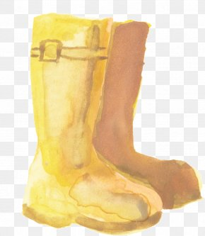 Footwear Snow Boot - Watercolor Drawing PNG