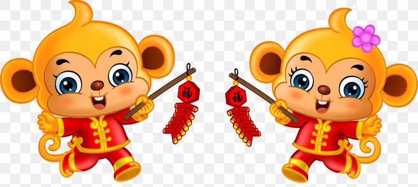 Chinese New Year Image Monkey Clip Art, PNG, 1628x728px, Chinese New Year, Advertising, Cartoon, Festival, Fictional Character Download Free