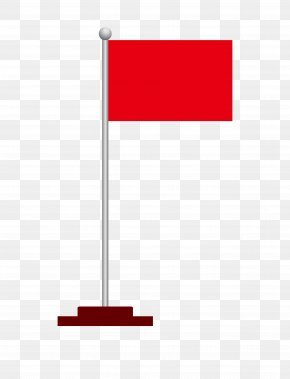 Red Flag Road Flagpole - Flagpole Computer File PNG