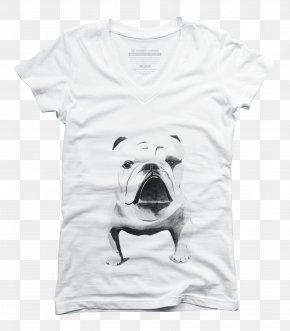 T-shirt - Printed T-shirt Pug Clothing PNG