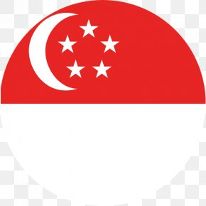 Flag - Flag Of Singapore National Flag Lion Head Symbol Of Singapore PNG