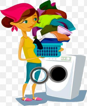 Wash Clothes In Washing Machines - Washing Machine Laundry Clothing PNG