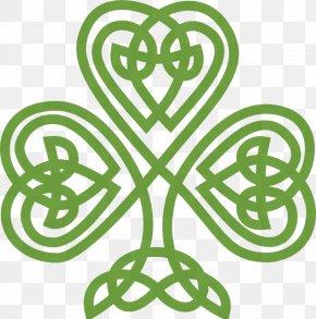 Celtic Shamrock Cliparts - Ireland Shamrock Celtic Knot Saint Patrick's Day Clip Art PNG