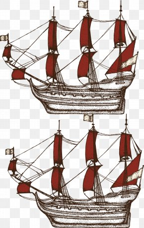 Ship Vector Material - U822au6d77 Drawing Sailing Ship Cartoon PNG