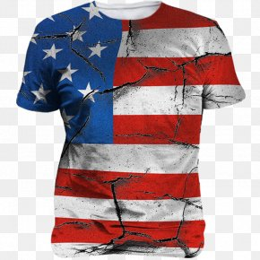 T-shirt - Flag Of The United States T-shirt Independence Day Unisex PNG