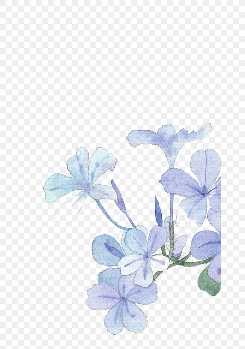 Blue Watercolor Painting Flower Png 658x1170px Blue