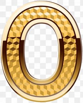Gold Number Zero Clip Art Image - Number 0 Clip Art PNG