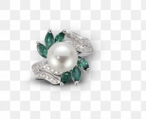 Emerald - Pearl Emerald Gold Diamond Jewellery PNG