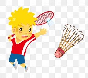 Cartoon Badminton Player - Badminton Cartoon Clip Art PNG