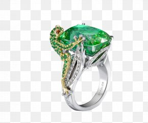 Lizard Emerald Ring - Frog Jewellery Engagement Ring Emerald PNG