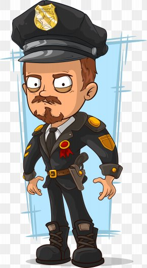 Hand Painted Police Officer - Police Officer Cartoon Stock Illustration PNG