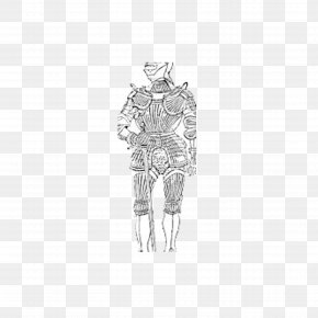 Painting Knight - Black And White Costume Design Drawing Pattern PNG