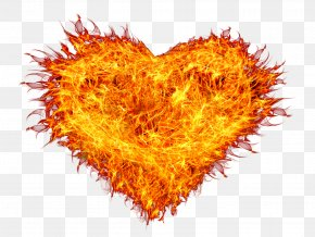 Fire Heart - Fire Flame Combustion PNG