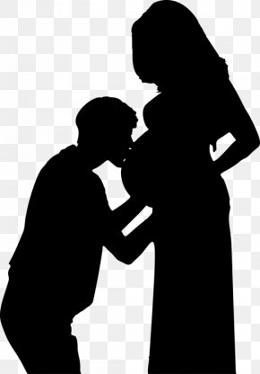 Mother Daughter Silhouette Mother - Clip Art Vector Graphics Pregnancy Silhouette Woman PNG