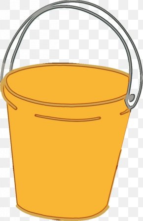 Plastic Waste Container - Watercolor Cartoon PNG