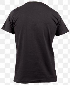 Black T-shirt - T-shirt Polo Shirt Sleeve Crew Neck Black PNG