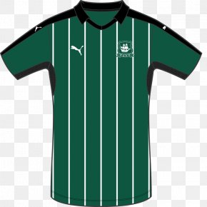 T-shirt - T-shirt Plymouth Argyle F.C. EFL League Two Sleeve Kit PNG