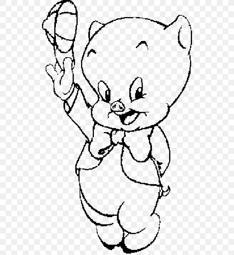 - Porky Pig Coloring Book Looney Tunes Cartoon, PNG, 700x896px