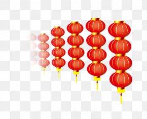 Rows Of Lanterns - Lantern Chinese New Year Light PNG