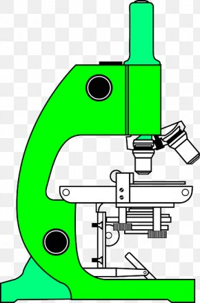 Green Microscope - Optical Microscope Clip Art PNG
