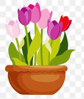 Flower Pot - Flowerpot Tulip Color Vase PNG