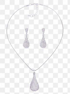 Jewellery - Locket Earring Jewellery Necklace Silver PNG