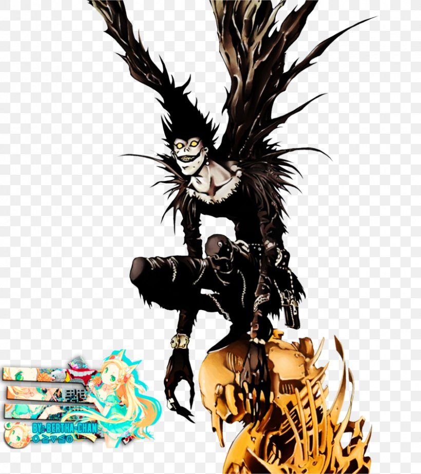 Ryuk Light Yagami Rem Death Note Png 843x948px Watercolor