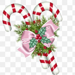 Christmas - Candy Cane Christmas Ornament Clip Art PNG